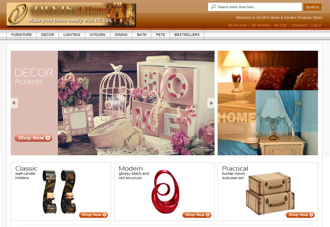 OLVIK Website Screenshot
