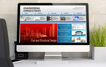 Engineering Website Design Image
