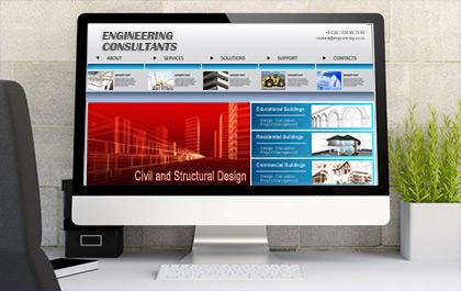 Engineering Website Design Image