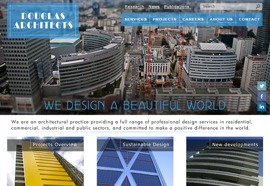 Portfolio Website Design Project - Douglas Architects