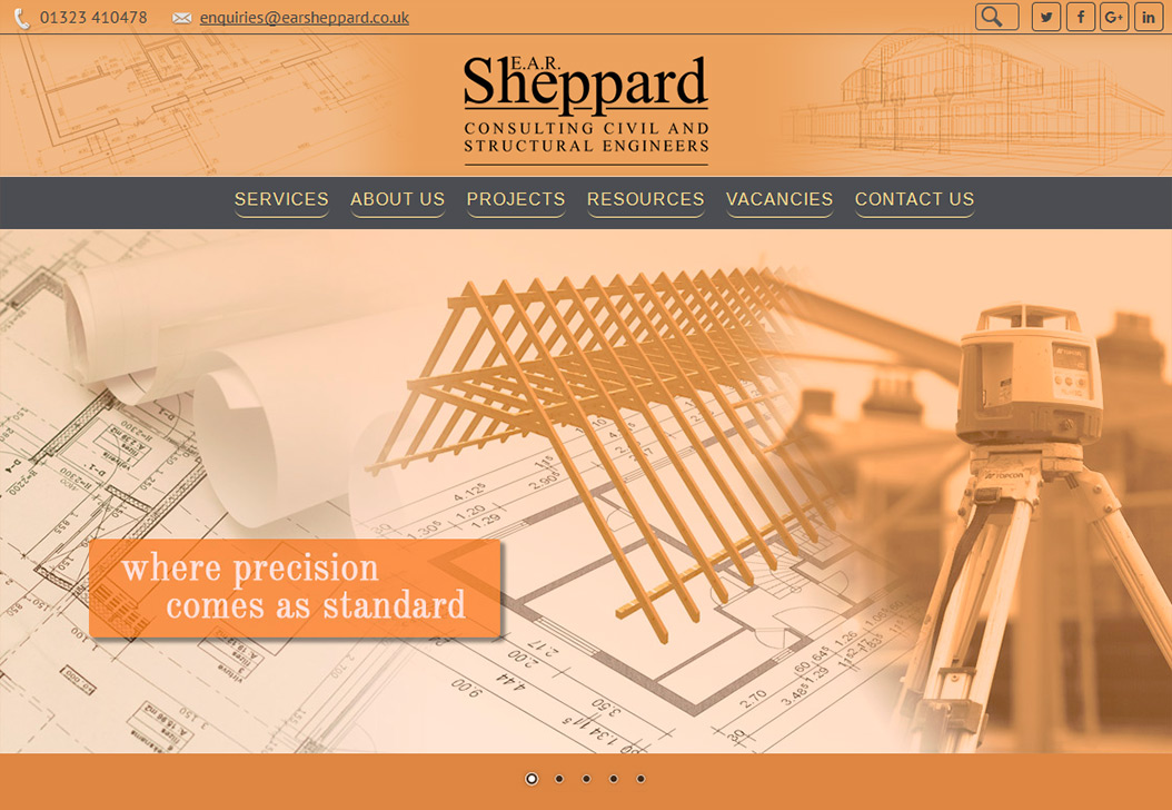 Portfolio Website Design Project - EAR Sheppard