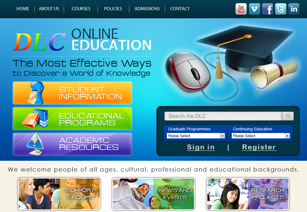 Portfolio Website Design Project - Online Education