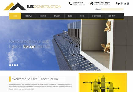 Portfolio Website Design Project - Elite Construction