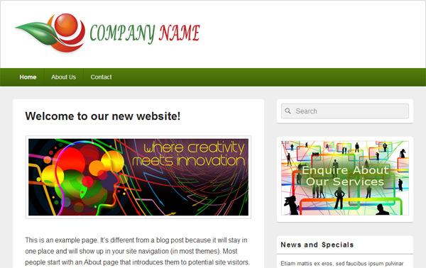 Wordpress Website Example Image