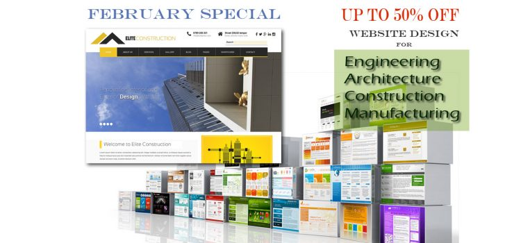 February Special: Up to 50% off Website Design