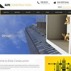 Elite Construction – Building Contractor Website Design