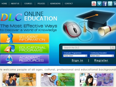 DLC Online Education - Website Design and Development